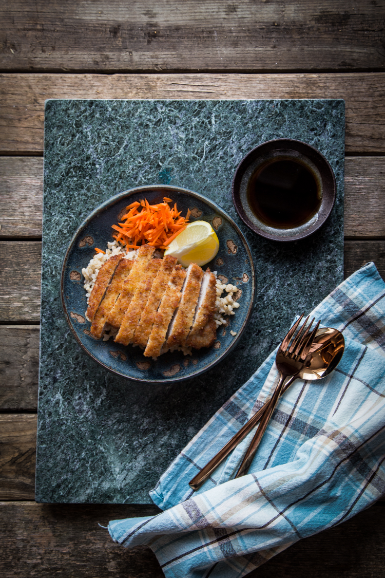 Tonkatsu is a popular dish in Japan. It is a deep-fried pork cutlet sliced into bite-sized pieces, generally served with sauce