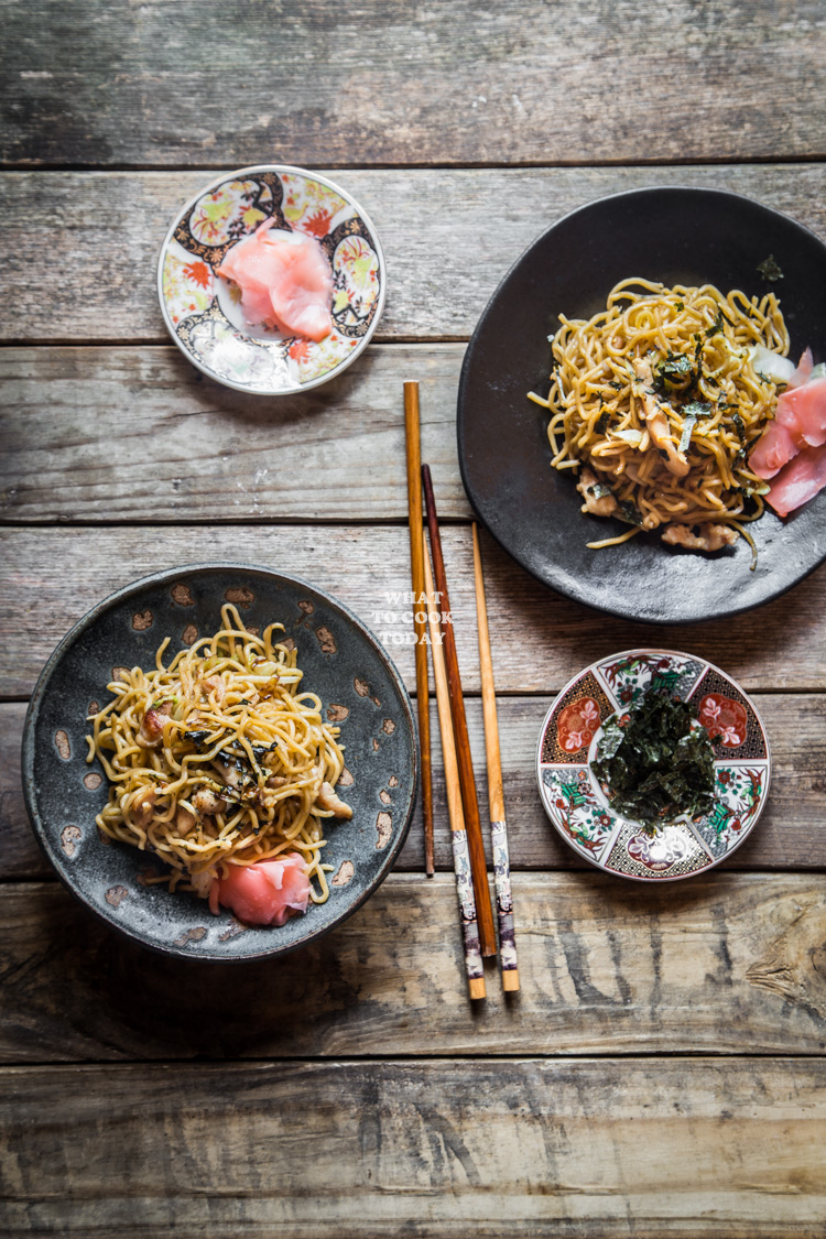 Easy yakisoba japanese stir fried noodles with pork and vegetables forumfinder Gallery