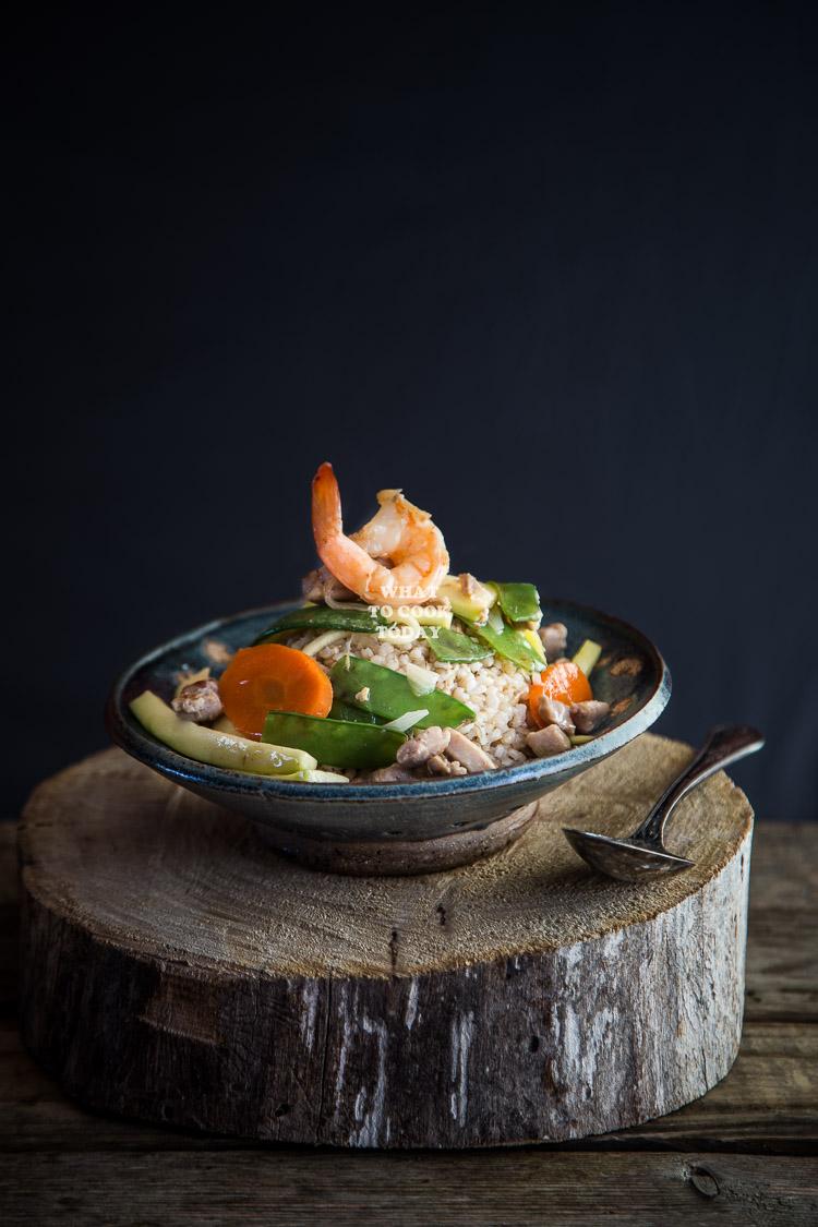 Shrimp and Chicken Ankake Donburi
