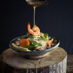 Shrimp and Chicken Ankake Donburi
