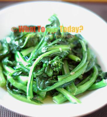 Stir-fried choy sum/chai sim/yu chai