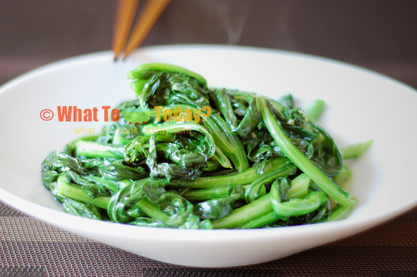 STIR-FRIED CHINESE VEGETABLE/ CHOY SUM | What To Cook Today