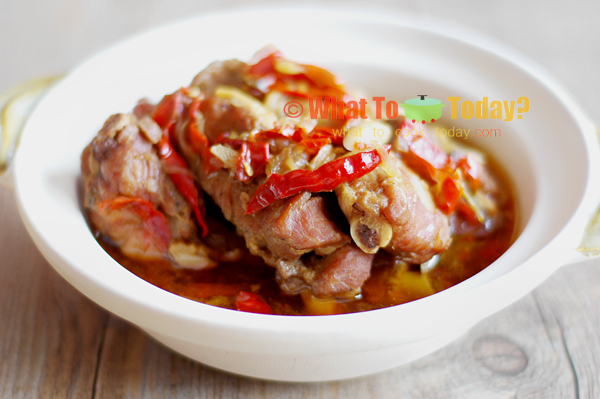 BRAISED PORK RIBS WITH BEAN PASTE