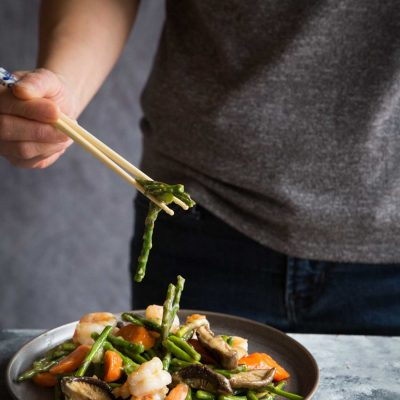 Super Easy and Versatile Stir-fried Asparagus and Shrimp