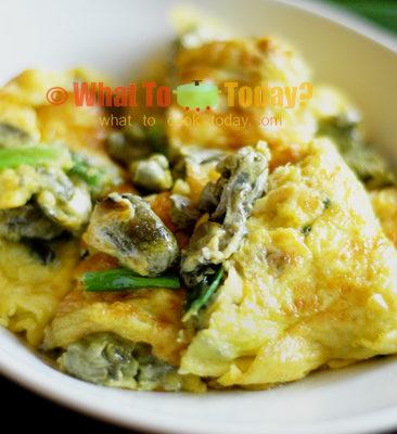 Easy Oyster Omelette