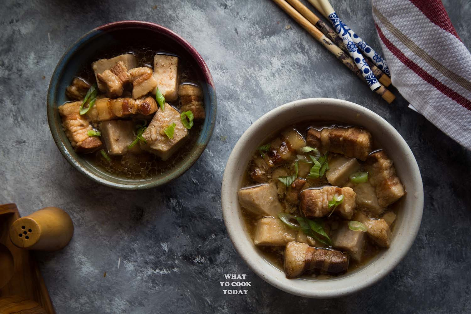 Easy Pressure Cooker Braised Pork with Yam (Taro)