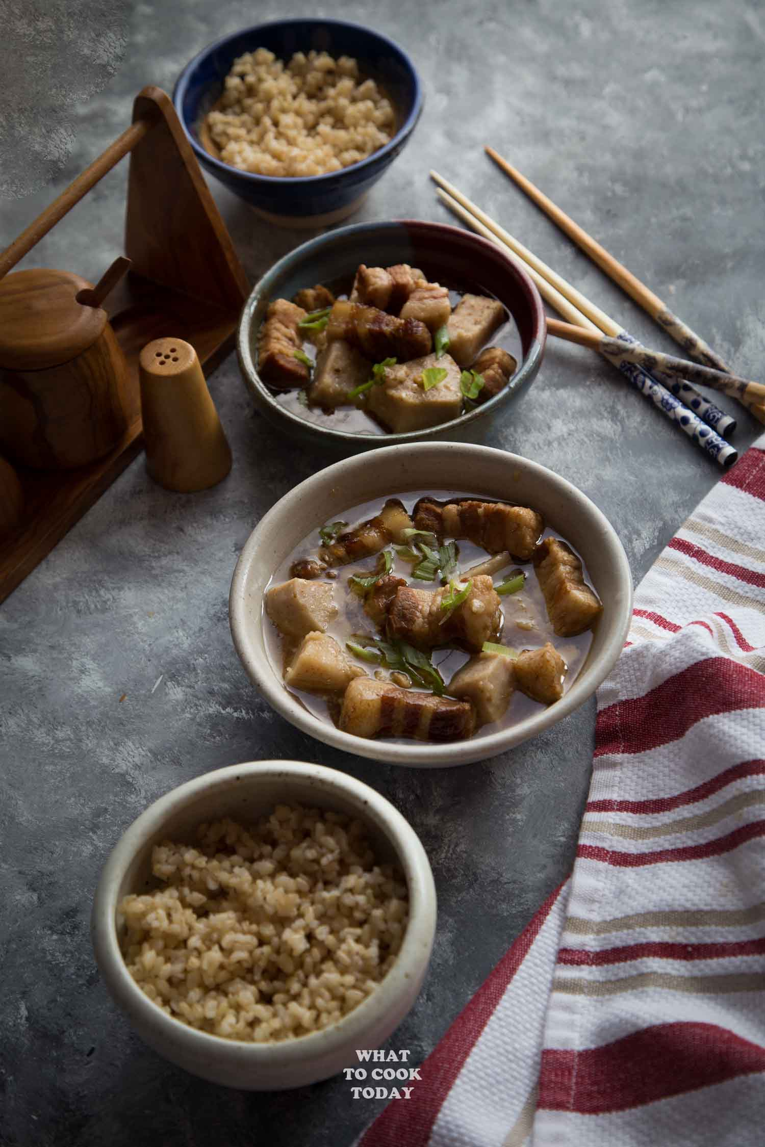 Easy Pressure Cooker Braised Pork with Yam (Taro)