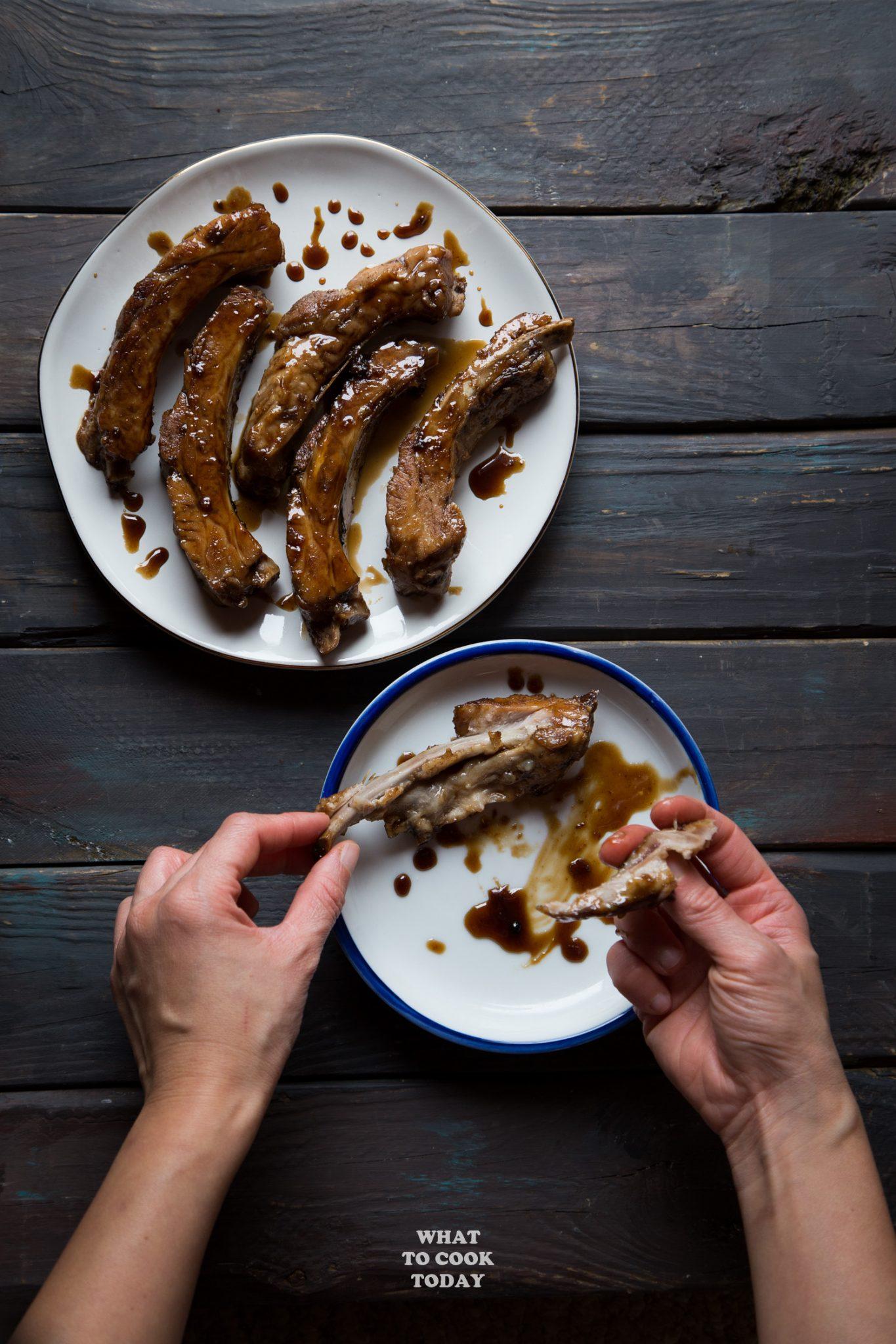 Pressure Cooker Sweet Black Vinegar Pork Ribs #instantpot #porkribs #blackvinegar
