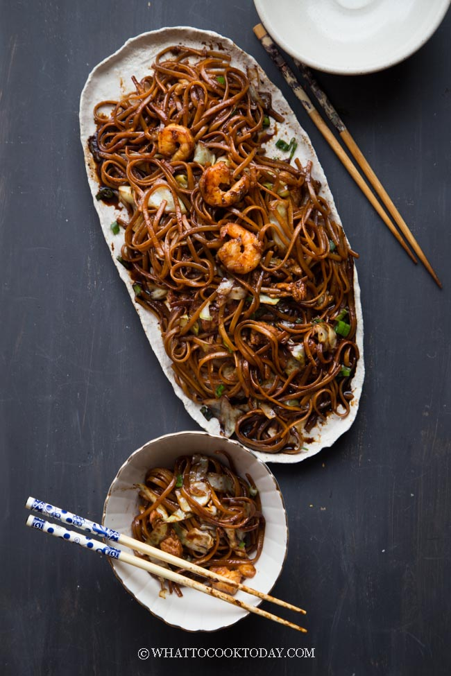 KL Fried Black Hokkien Mee (Easy and Healthier version)