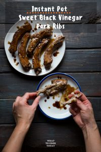 Pressure Cooker Sweet Black Vinegar Pork Ribs
