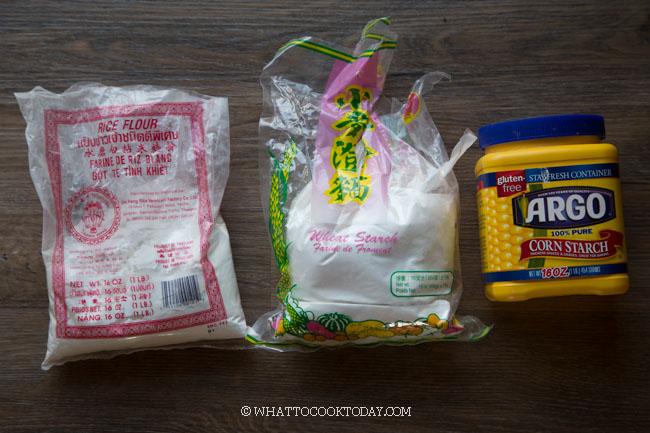 rice flour, wheat starch, cornstarch