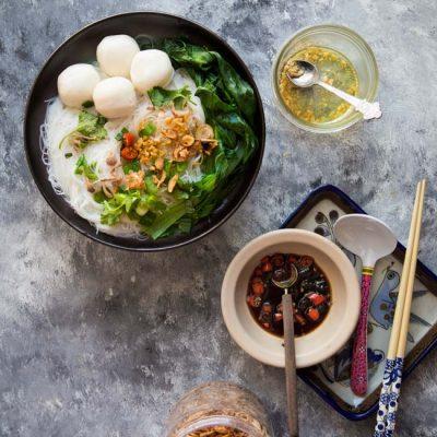 Easy Fish Ball Bee Hoon Noodle Soup