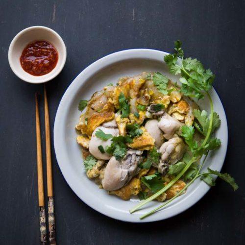 Orh Jian (Hawker Fried Oyster Omelette)