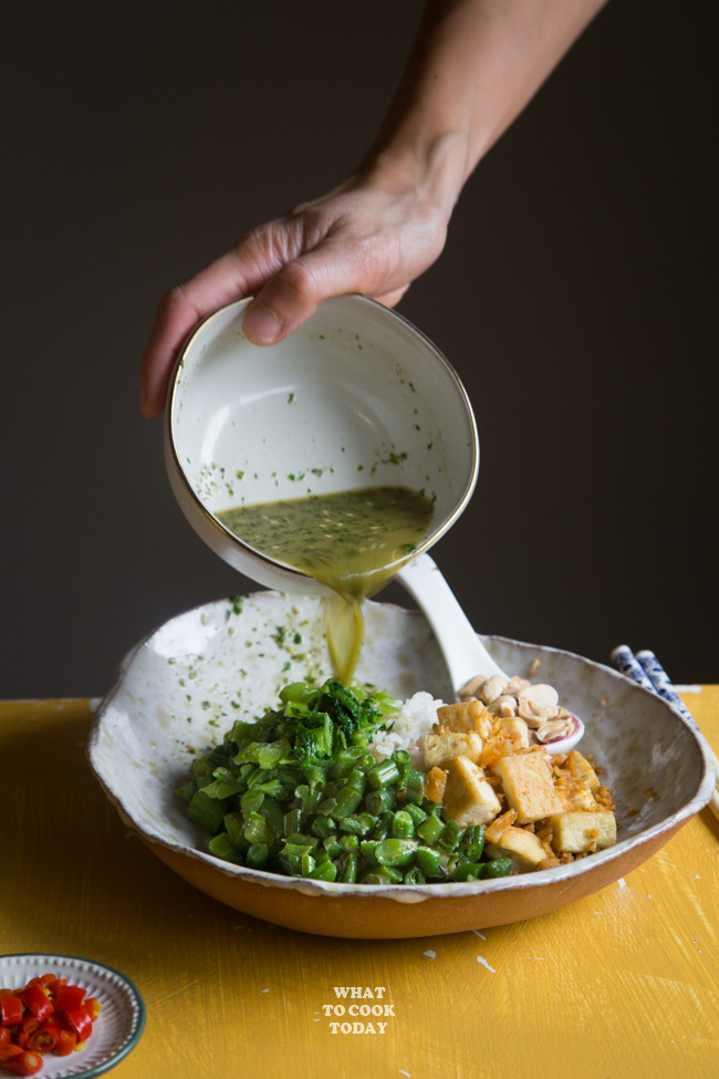 Thunder Tea Rice (Hakka Lei Cha Rice)