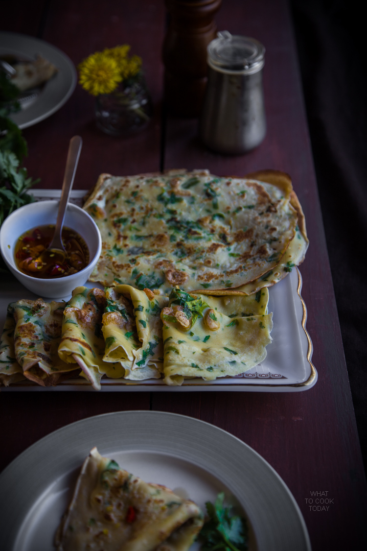 Savory dried shrimp crepes (15 crepes)