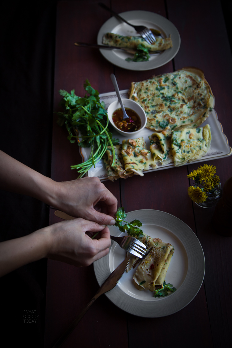 Savory dried shrimp crepes (15 crepes)