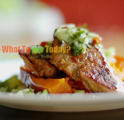 CAJUN ALLIGATOR WITH SWEET POTATO & SALSA