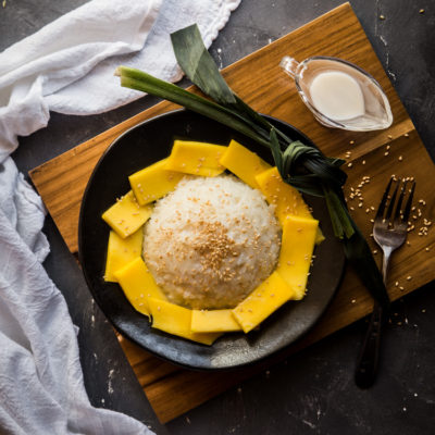 Coconut Sticky Rice with Mango (Khao Niao Mamuang)