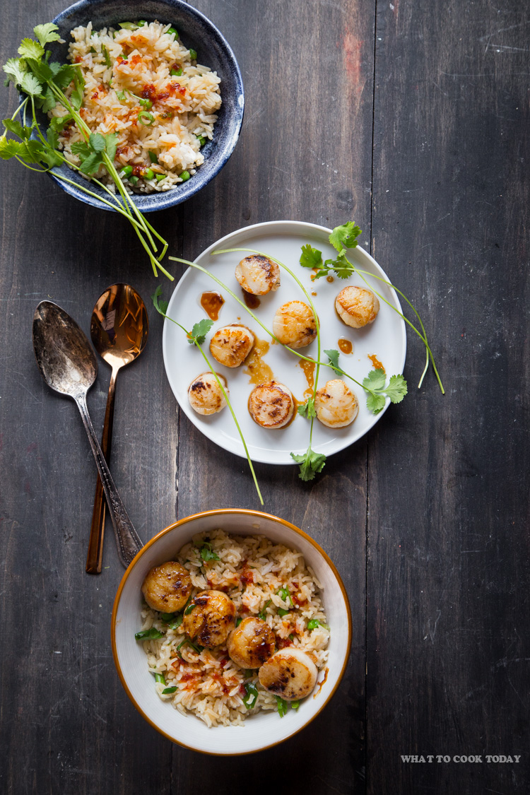 30-Minute meal: Five-spice Seared Scallops with Sweet Chili Rice