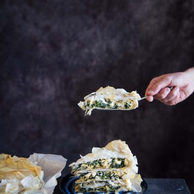 30-Minute Meal: Spinach and Feta Filo Pie with Cucumber Salad