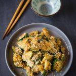 Stir-fried Zucchini with Salted Egg Yolks (黃 沙 炒小南瓜)