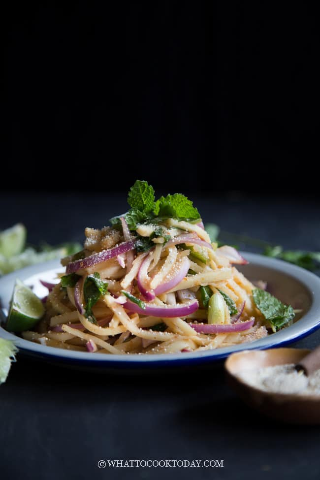 How To Make Thai Bamboo Shoot Salad (Soop Naw Mai)