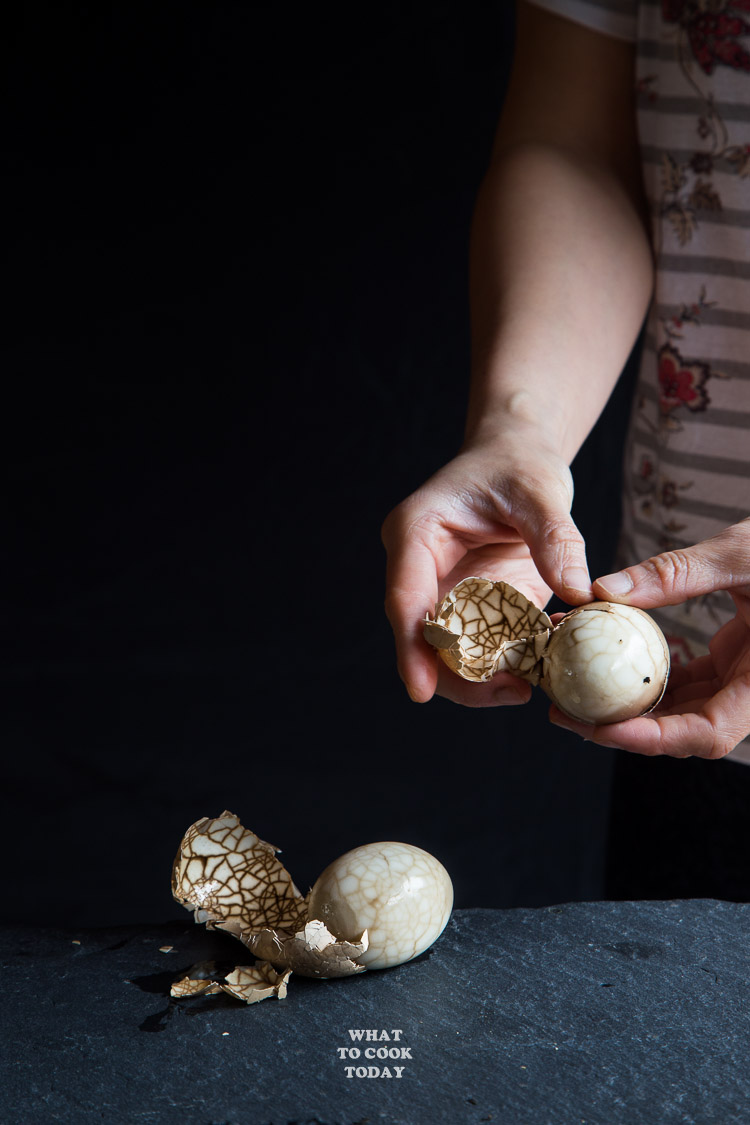 How To Make Chinese Marbled Tea Eggs. Marbled Tea Eggs are hard-boiled eggs with cracked shells and boiled again in herbs, seasonings, and tea leaves to create that beautiful marbles on the eggs.