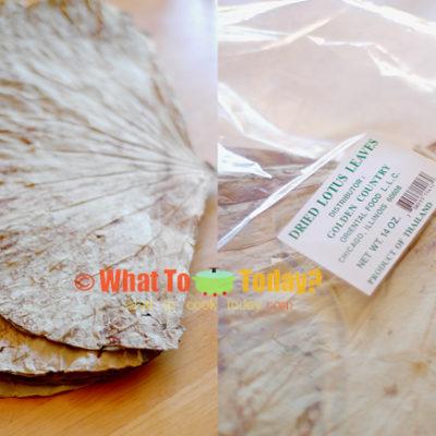 STEAMED CHICKEN IN LOTUS LEAVES / 荷 葉 粉 蒸 雞