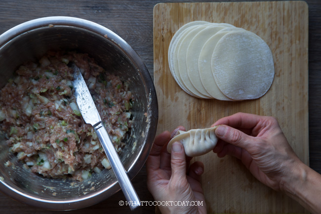 HOW TO FOLD PLEATED CHINESE DUMPLINGS