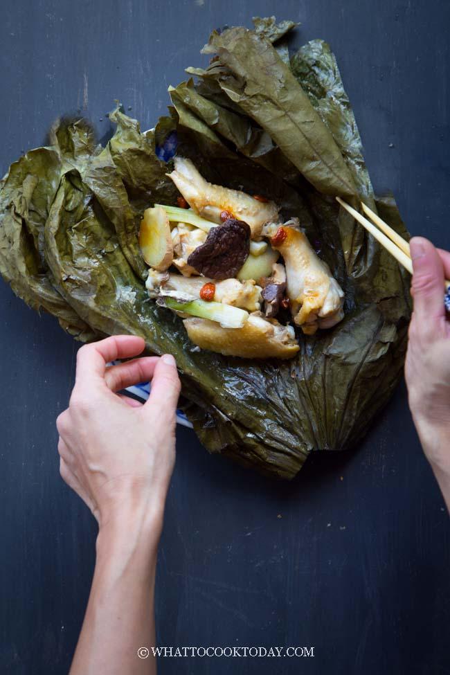 Steamed Chicken in Lotus Leaves ( 荷 葉 蒸 雞)