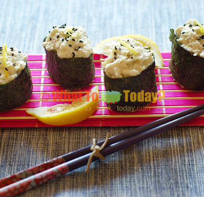 LEMON PEPPER CRAB SUSHI BOATS