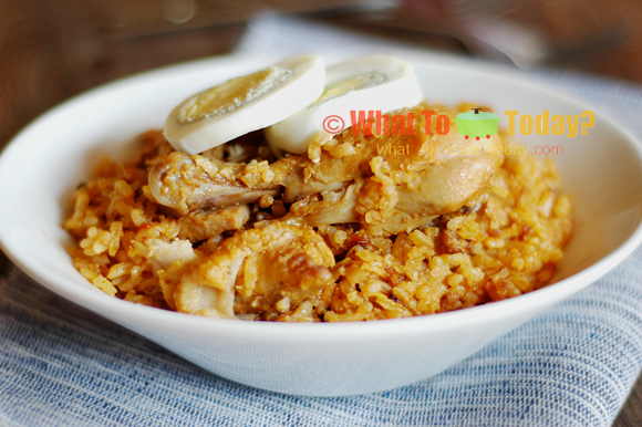 JOLLOF RICE WITH CHICKEN, BEEF AND HAM