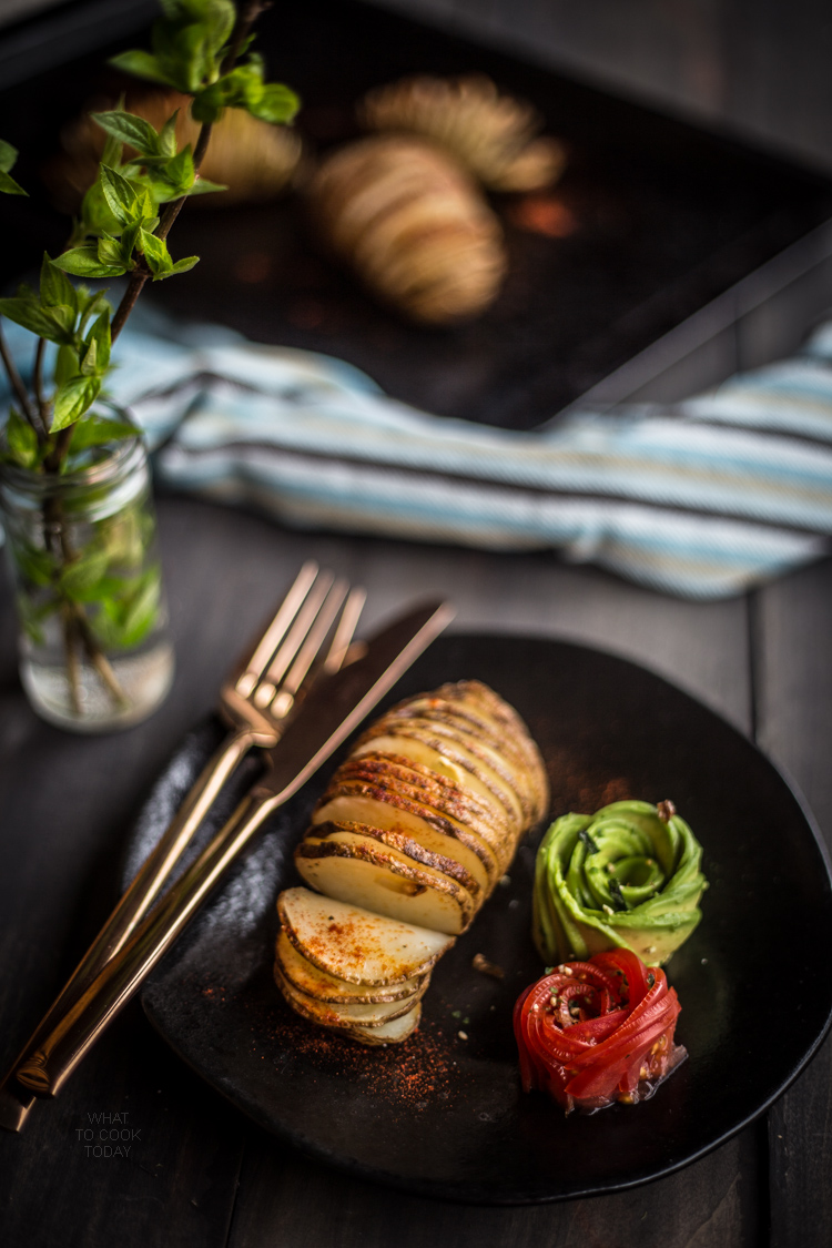 Hasselback roasted potatoes
