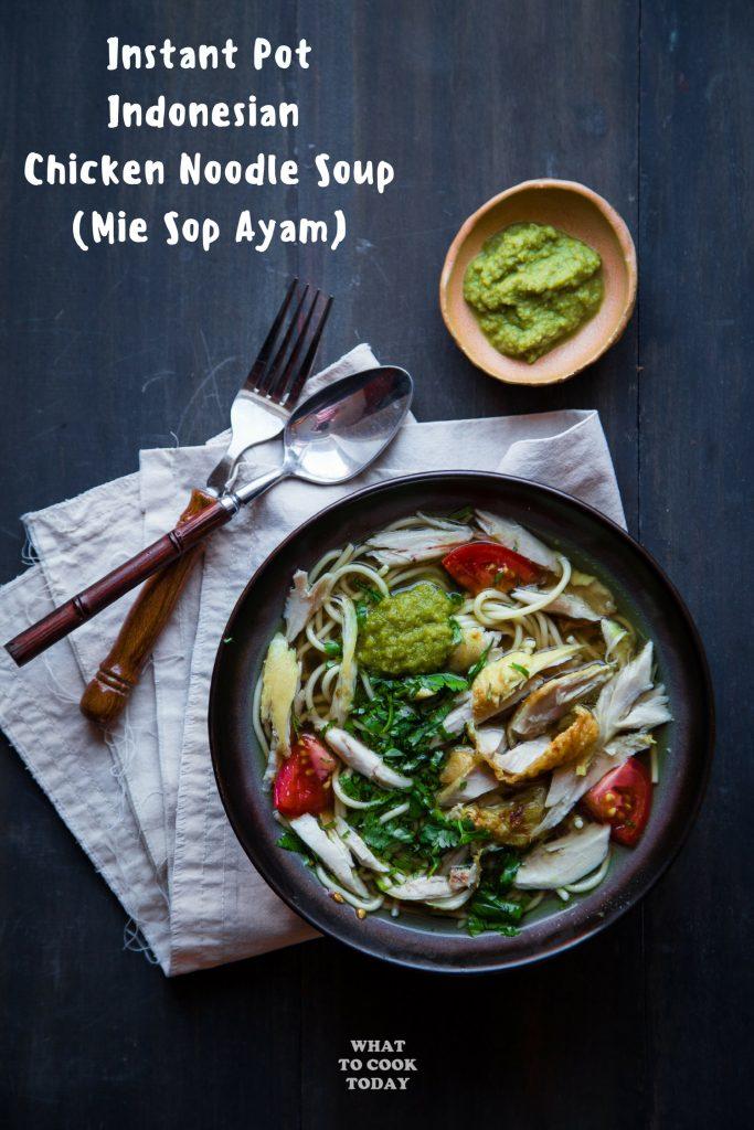 Mie Sop Ayam Medan / Indonesian Chicken Noodle Soup