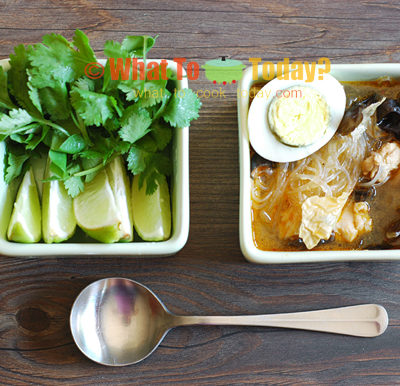 VERMICELLI SOUP WITH CLOUD EAR FUNGUS / KYASAN CHET