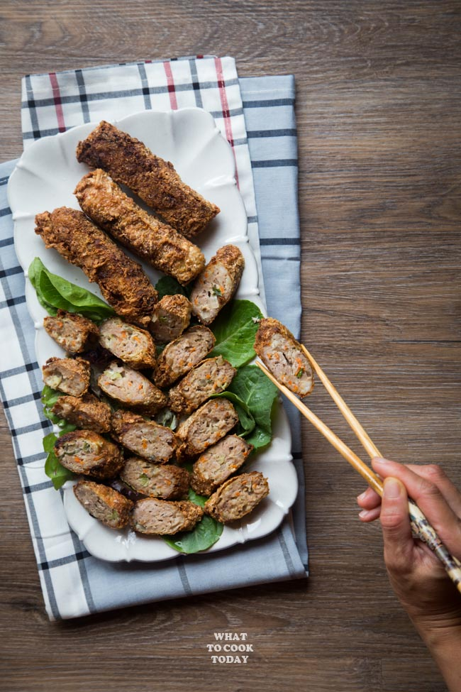 How To Make Ngoh Hiang (Lor Bak / Fried Meat Rolls)