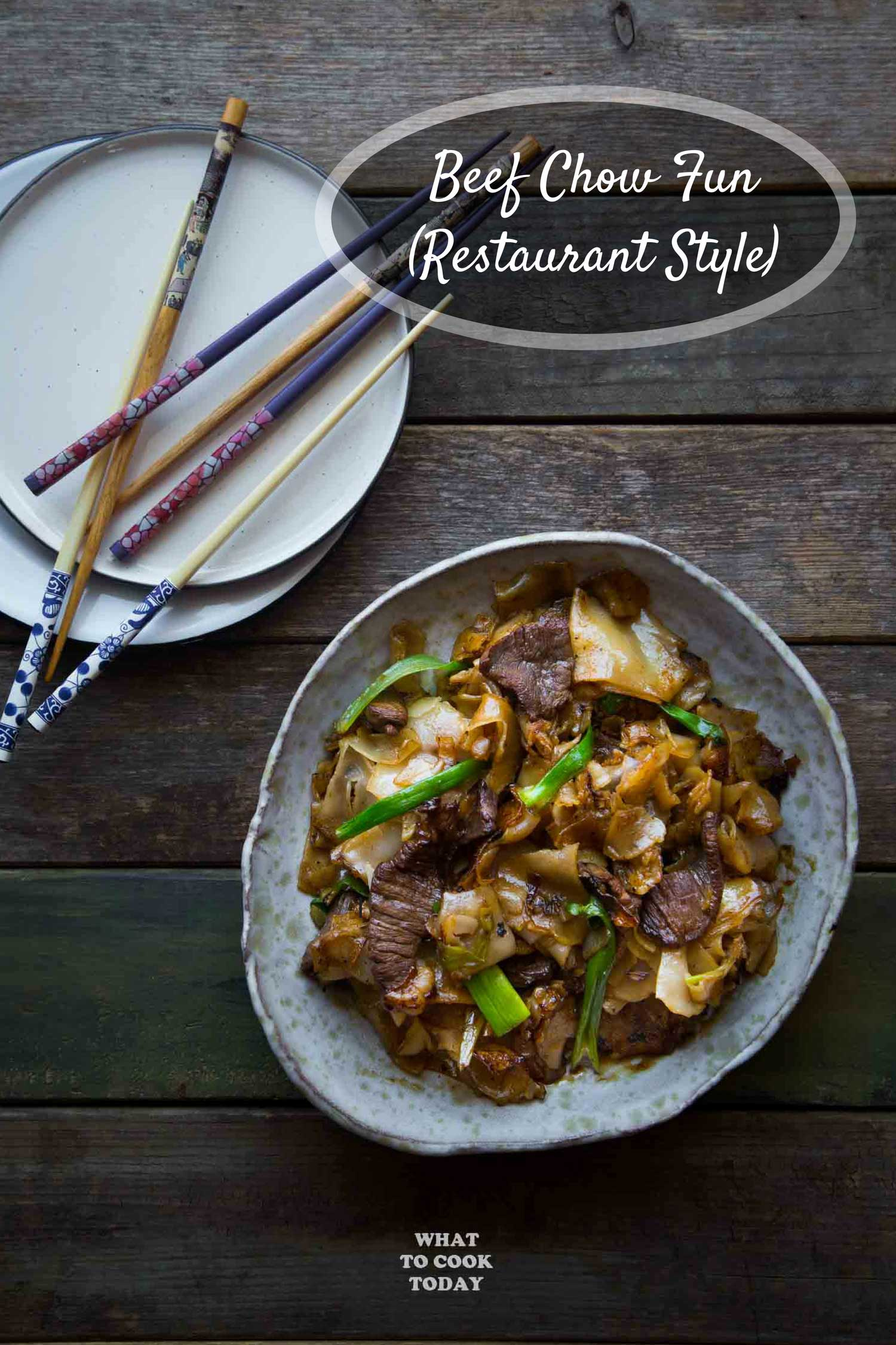 Restaurant-style Beef Chow Fun - Learn how to make restaurant-style beef chow fun at your very own kitchen. It's seriously easy and no fuss recipe.