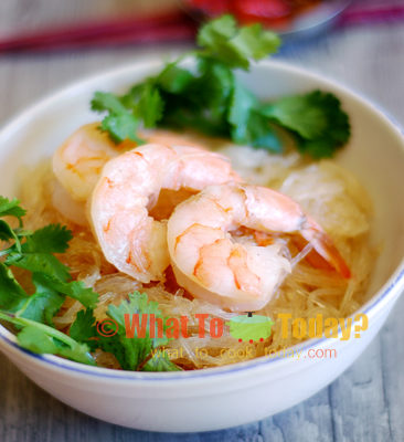 SHRIMPS WITH BEAN-THREAD NOODLES