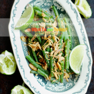 GREEN BEAN SALAD WITH PEANUTS
