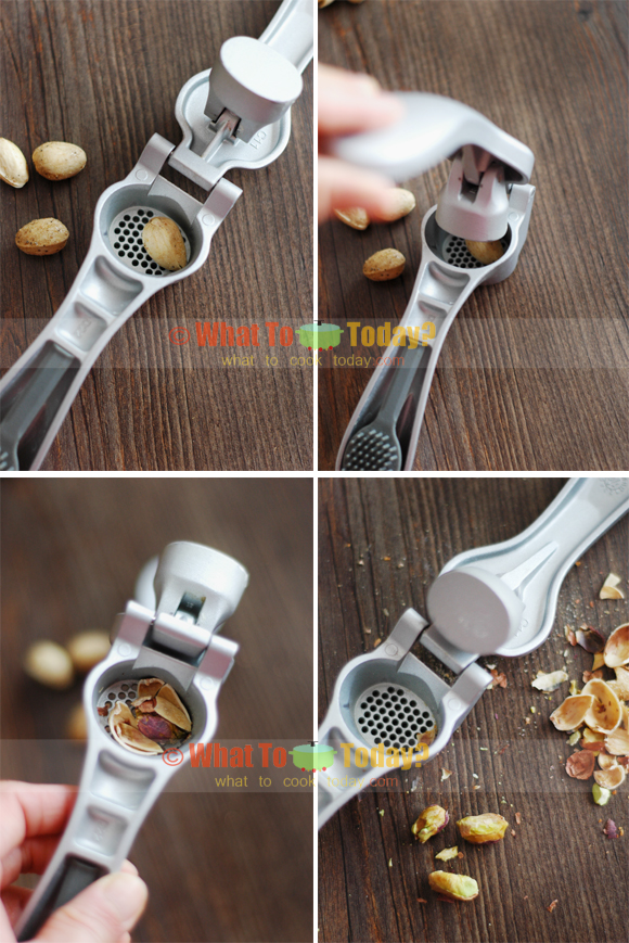 USE GARLIC PRESS AS A NUT CRACKER