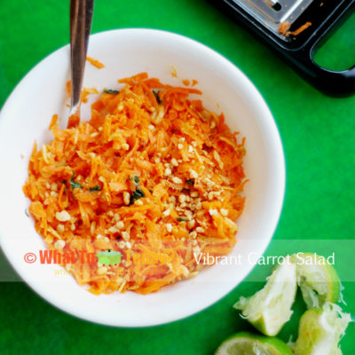 CARROT SALAD WITH DRIED SHRIMP AND FRESH HERBS