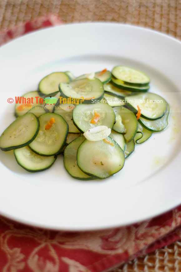 STIR-FRIED ZUCCHINI WITH LEMON