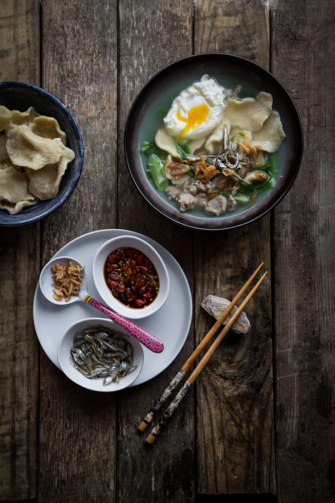 Mee Hoon Kueh (Hand-pulled Noodles)