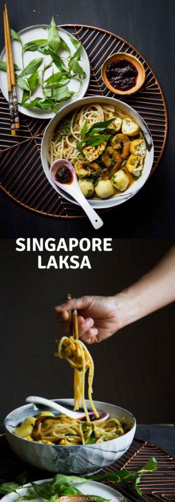 Singapore Katong Laksa (From Scratch)