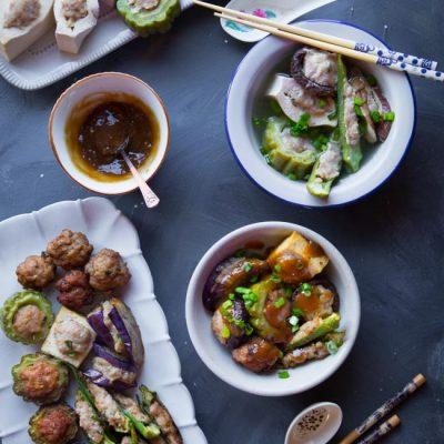 Homemade Hakka Yong Tau Foo (Soup and Dry Versions)