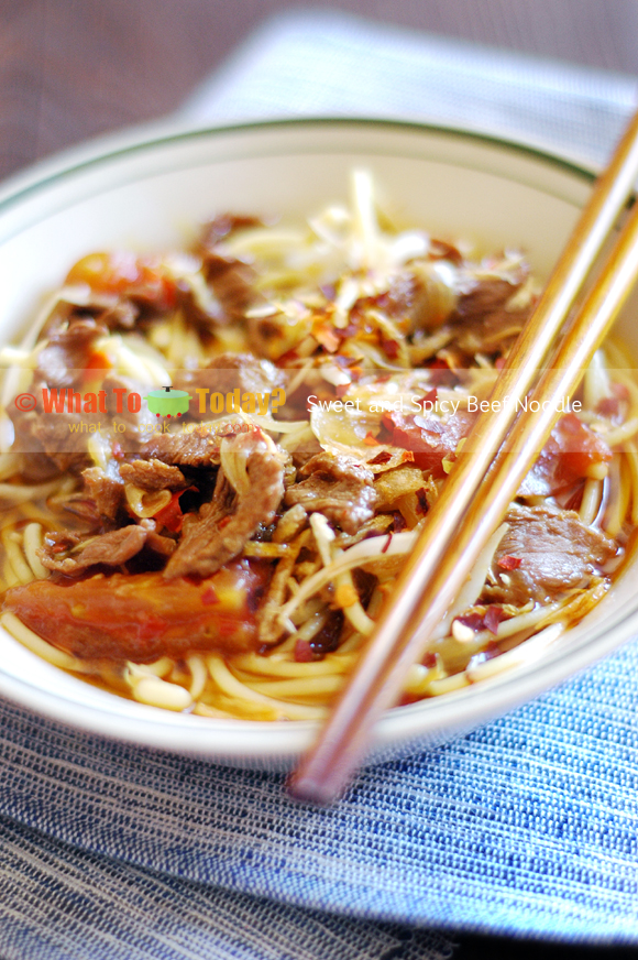 SWEET AND SPICY BEEF NOODLE
