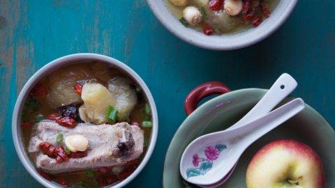 Chinese Apple Pork Ribs Soup (Instant Pot, Slow Cooker, Stove-top)