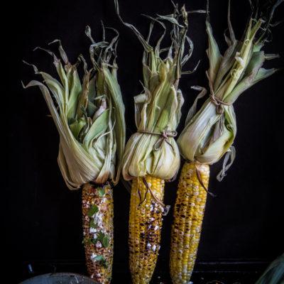 Grilled Oaxacan-style Corn