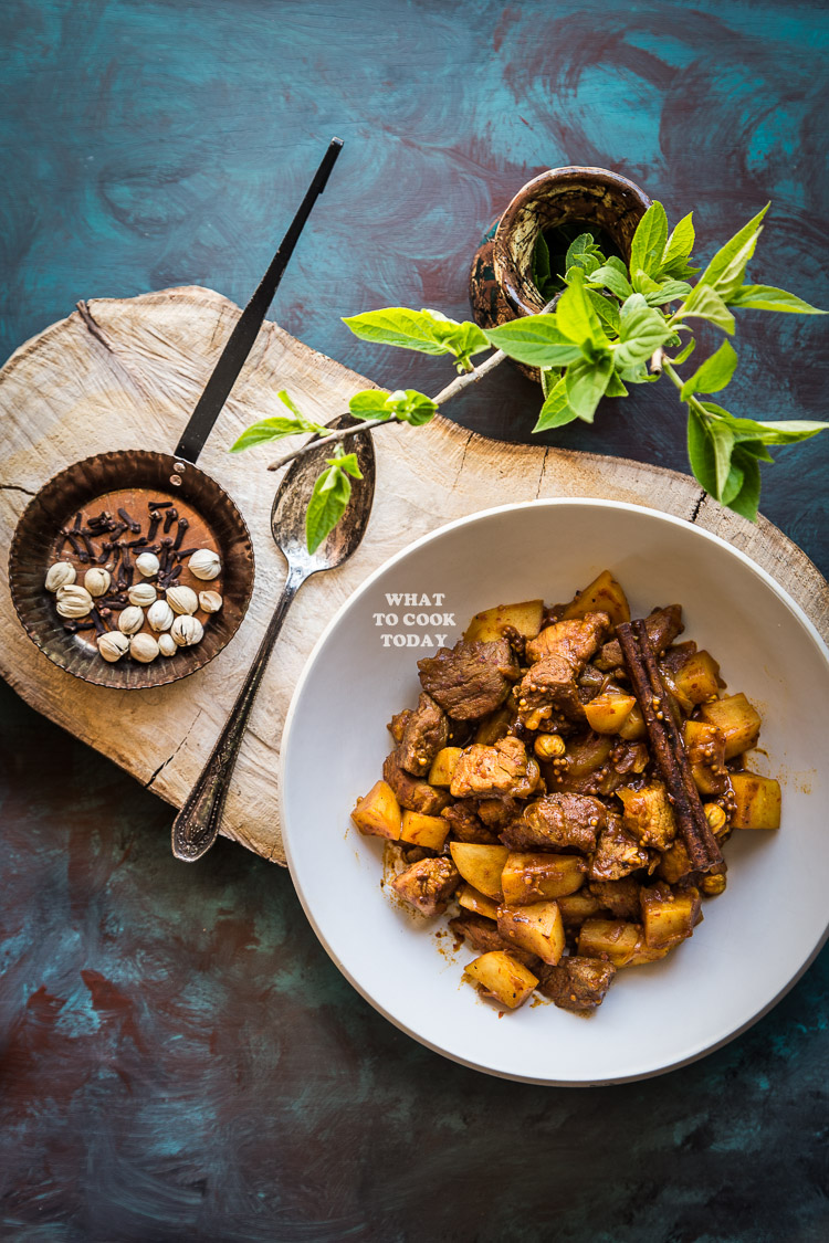 Pork Vindaloo. Portuguese Indian-style curry made with arrays of aromatic spices and characterized by its piquant, savory and lightly sweet taste. This one-pot dish tastes even better the next day