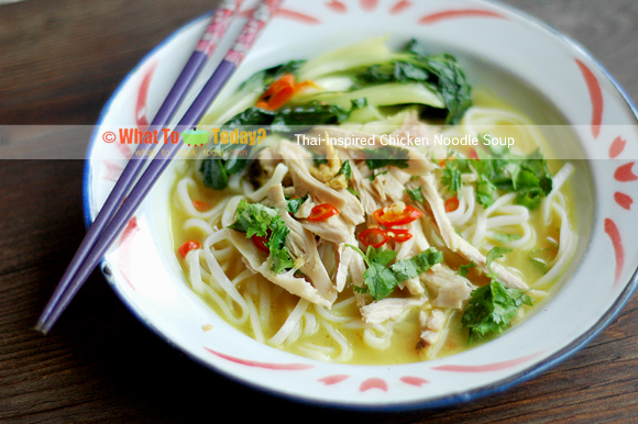THAI-INSPIRED CHICKEN NOODLE SOUP